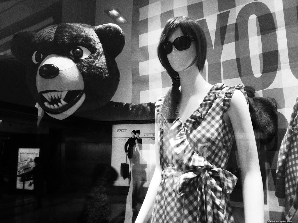 Show window bear & model