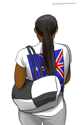 """Go go, Australia!"" (#339: Project 365 Sketches)"