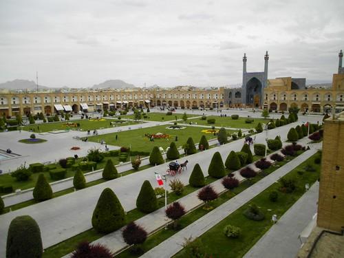 La grande piazza di Esfahan