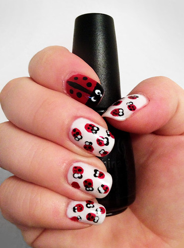 Lady Bug Nails by intraordinary