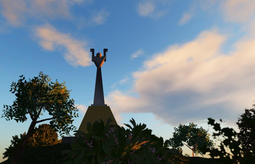 The Man statue