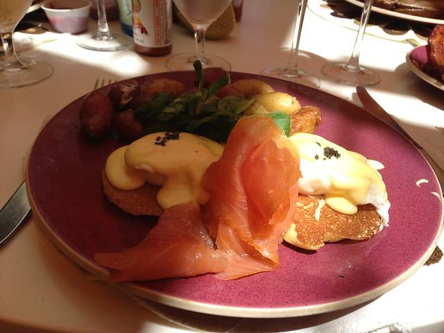 Upstream eggs benedict - Norma's