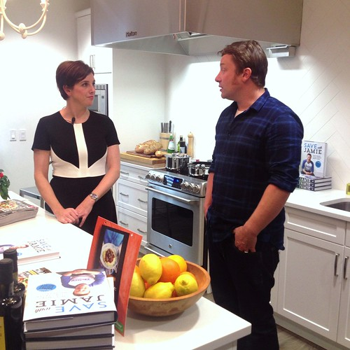 Jamie Oliver and Clare Tansey