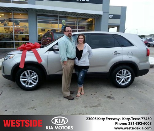 Thank you to Richard Branford on your new 2014 #Kia #Sorento from William Hadnott and everyone at Westside Kia! by Westside KIA