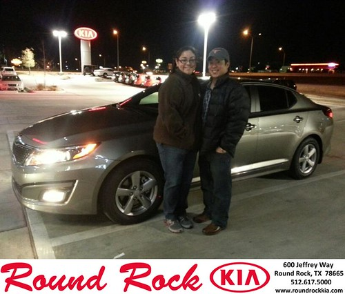 Thank you to Patricia Mora on your new 2014 #Kia #Optima from Fidel Martinez and everyone at Round Rock Kia! #NewCarSmell by RoundRockKia