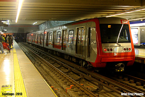 Metro de Santiago - Alstom AS2002 R4442 - Vicente Valdés (L4)