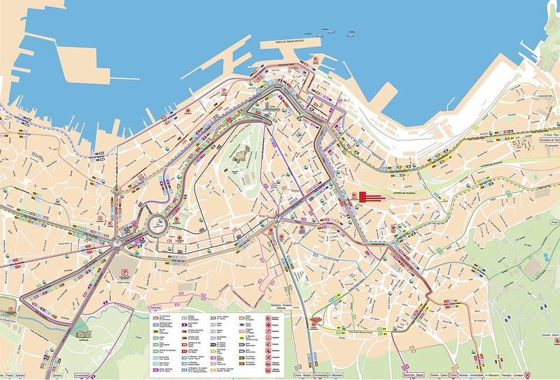 Mapa Transporte Publico Vigo