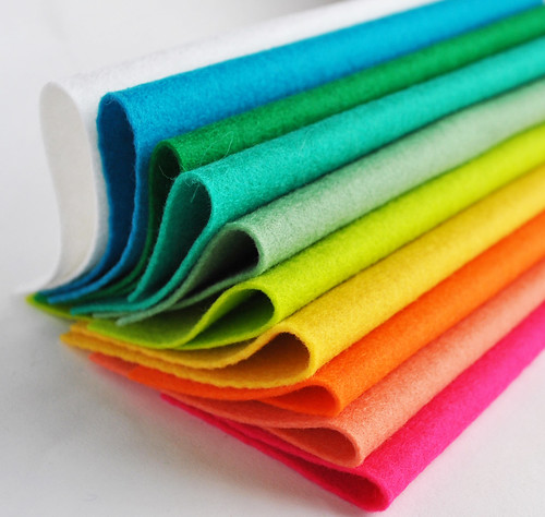 colourful felt from cloud craft