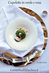 Sformatino di salmone e spinaci