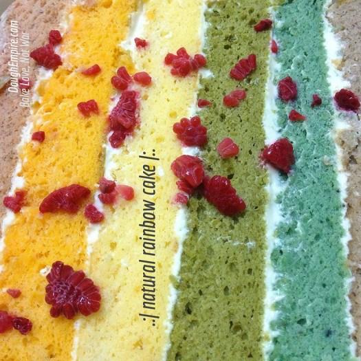 Natural Rainbow Cake