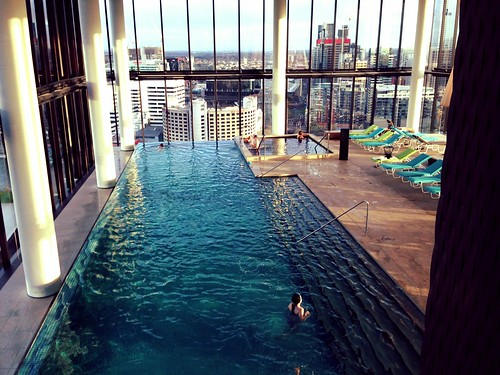 Pool at Crown Metropol Hotel, Melbourne Australia