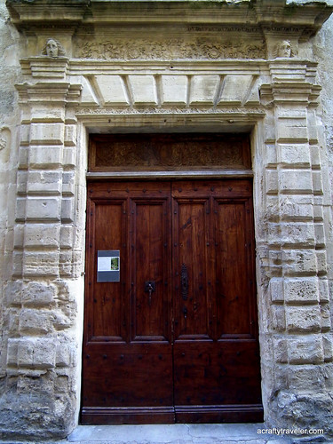 Door frame in Tourbes, France