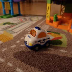 Ich bin das Polizeiauto.