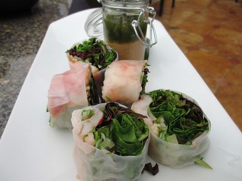 Lobster Spring Rolls, Yellowtail Japanese Restaurant, Bellagio Las Vegas, April 2013