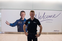 Tim Peake arrives back in UK