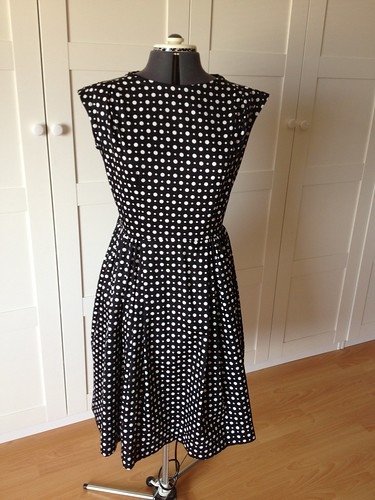 polka-dot W3 dress