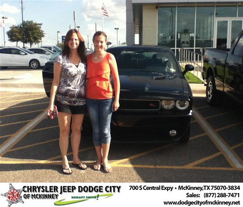 Thank you to Diane Pierce on the 2013 Dodge Challenger from Brent Villarreal and everyone at Dodge City of McKinney! by Dodge City McKinney Texas