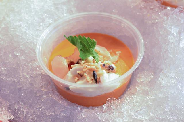M.B. Post thai tea panna cotta, puffed wild rice, white chocolate, lychee