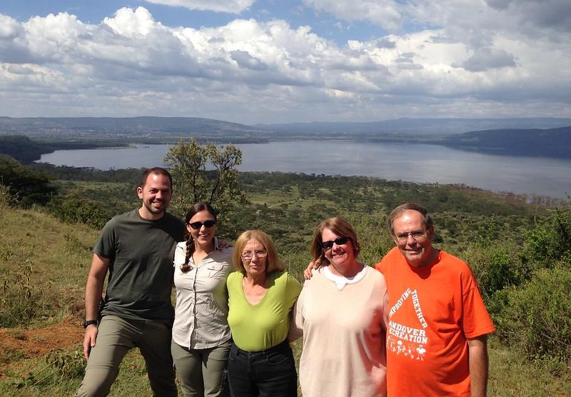 The family at Lake Nakuru National Park