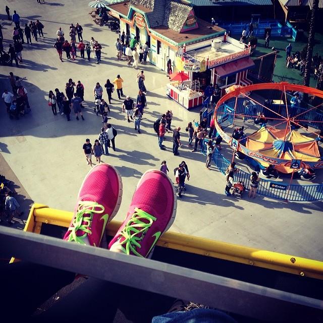 View from the top #ferriswheel #adventureswithlauren #santacruzboardwalk #roadtrip