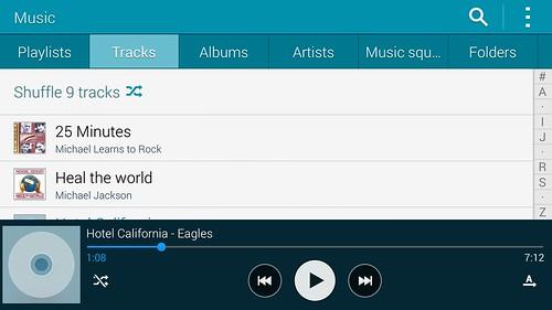 Music player บน Samsung Galaxy S5