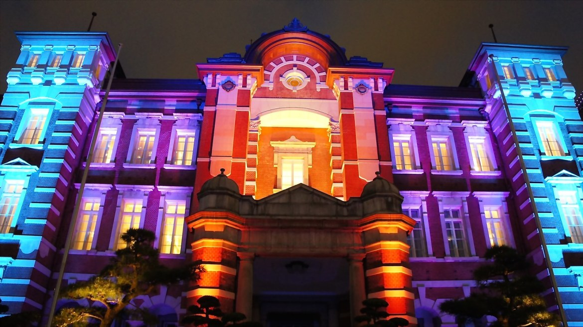 Light up at the 100th anniversary of JR Tokyo Station.