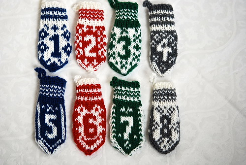 Mini Mitten Advent Calendar 1-8