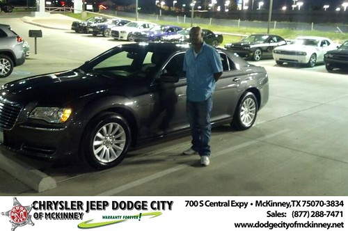 Thank you to Kelvin Hood on your new 2013 #Chrysler #300 from Bobby Crosby and everyone at Dodge City of McKinney! #NewCar by Dodge City McKinney Texas
