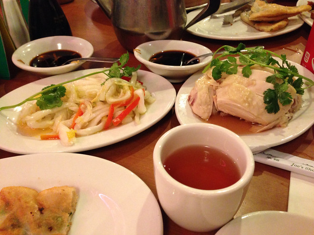 Pickled cabbage and wine chicken dishes