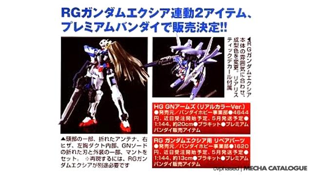 RG Gundam Exia Repair Pack
