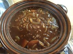 土鍋で作ったハヤシライス