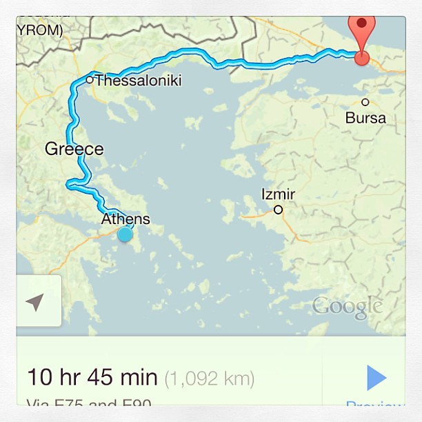 Long way from Athens to Istanbul