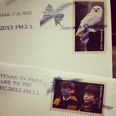 Best Christmas stamps ever.  One from @mkissa and one from my mom & dad!