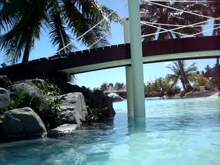 Swim up bar/pool at Intercontinental Tahitit