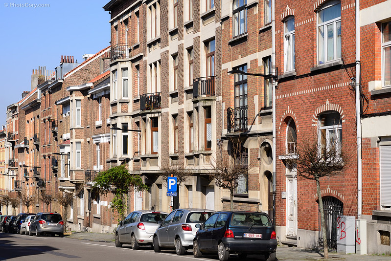 elsene, ixelles buildings in brussels belgium