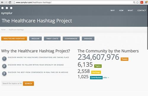 Symplur Healthcare Hashtag Project 07082013