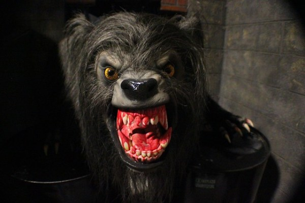 An American Werewolf in London lights-on at Universal Orlando