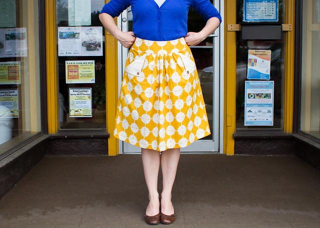 flap pocket skirt for vintage may
