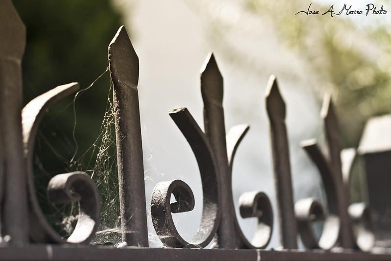 La tela en la valla