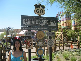Me with the Radiator Springs sign.
