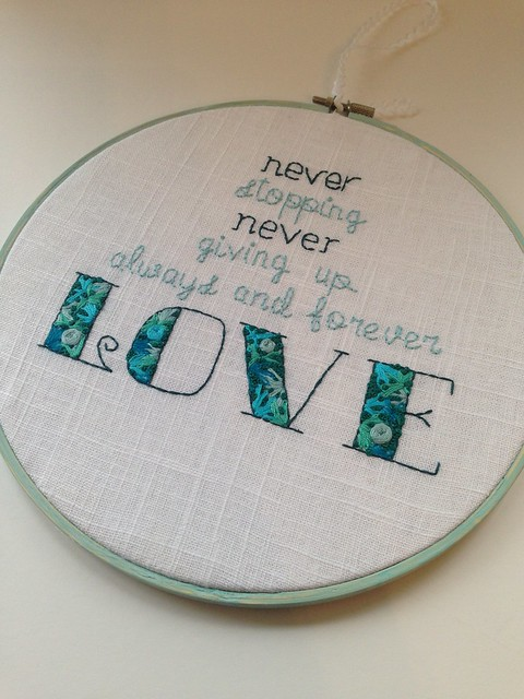 Jesus Storybook Bible quote ... Always and forever love 2015 version in turquoise