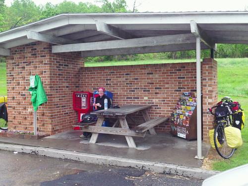 rainy day pit stop in VA