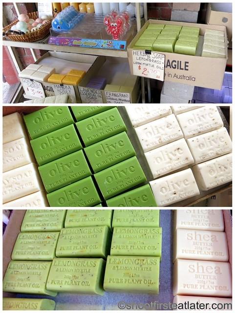 Queen Victoria Market- Soapbox- lemongrass, shea, olive oil soaps