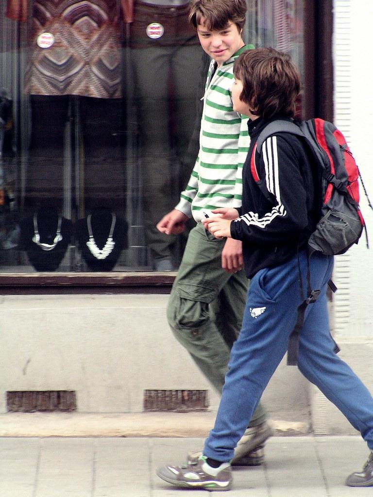Boys on the Sidewalk 1