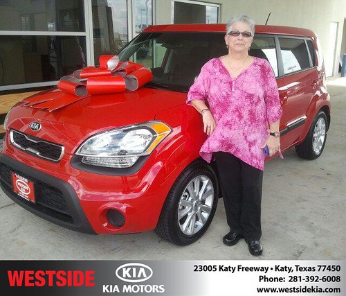 Thank you to Sherry Daugherty on your new 2013 Kia Soul from Gil Guzman and everyone at Westside Kia! by Westside KIA