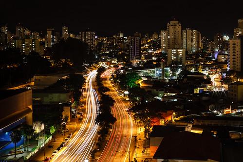 São Paulo night (color) by Luiz L.