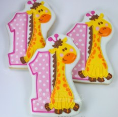 one giraffe, two giraffes, three giraffes....