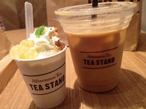 ラティ&フローズンラティー アップルパイ@Afternoon Tea TEASTAND