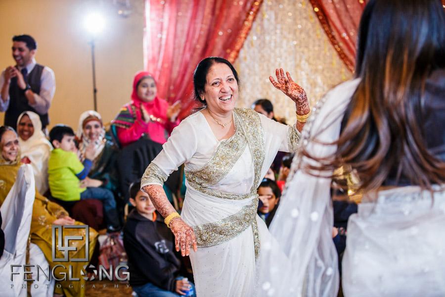 Dancing during Indian wedding Valima reception