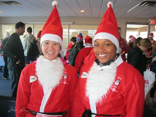 Arlene and I in our Santa suits